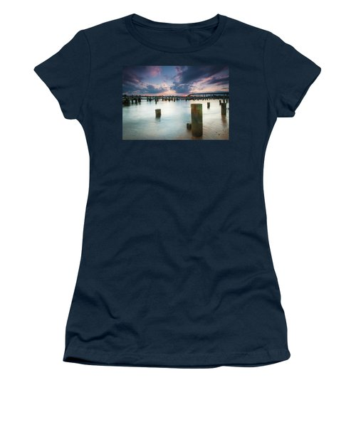 Women's T-Shirt (Athletic Fit) featuring the photograph Sunset On The Severn River by Mark Duehmig