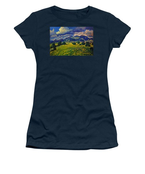 Taos Yellow Flowers Women's T-Shirt
