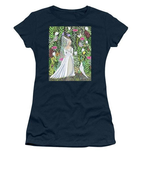 The Lady Vanity Takes A Break From Mirroring To Dream Of An Unusual Garden  Women's T-Shirt