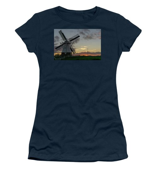 Women's T-Shirt featuring the photograph The White Mill by Anjo Ten Kate