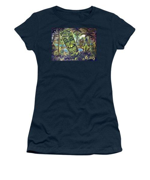 Tiki Genie's Sacred Pools Women's T-Shirt