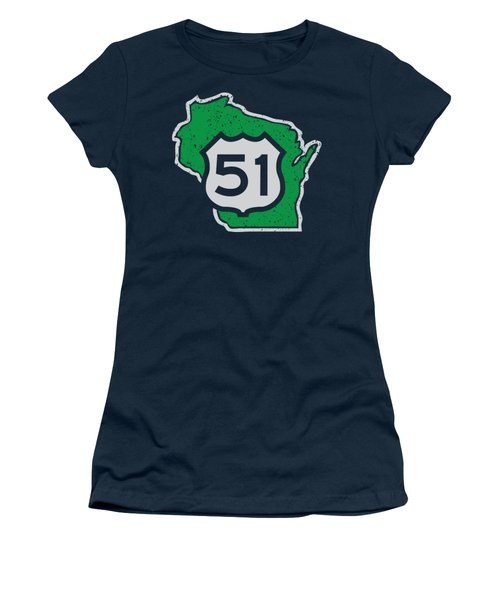 U.s. Hwy 51 Wisconsin Women's T-Shirt