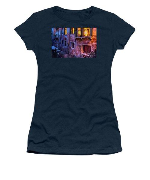Venice Windows At Night Women's T-Shirt