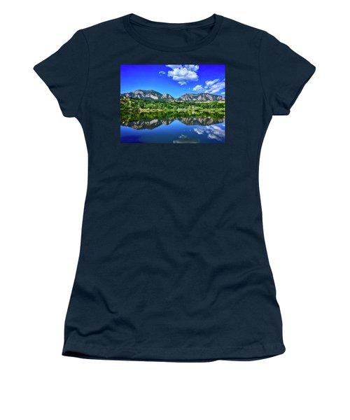 Women's T-Shirt featuring the photograph Viele Lake by Dan Miller