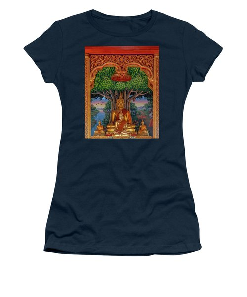 Women's T-Shirt featuring the photograph Wat Kulek Phra Wihan Buddha Images Dthlu0448 by Gerry Gantt