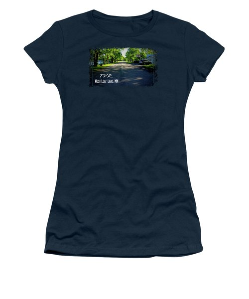 West Leaf Lake, Minnesota Women's T-Shirt