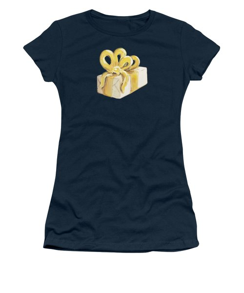 Women's T-Shirt featuring the painting Yellow Present by Maria Langgle