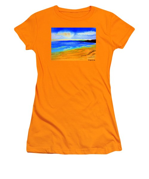 2 Australian Beach In The Morning Near Cottesloe Women's T-Shirt (Athletic Fit)