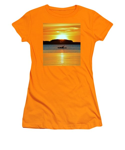 A Reason To Kayak - Summer Sunset Women's T-Shirt (Athletic Fit)