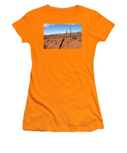 Women's T-Shirt (Junior Cut) featuring the photograph  Don't Fence Me In by Tammy Espino