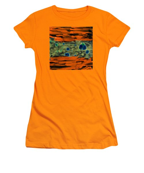 Women's T-Shirt (Junior Cut) featuring the painting Autumn Breeze by Joan Reese