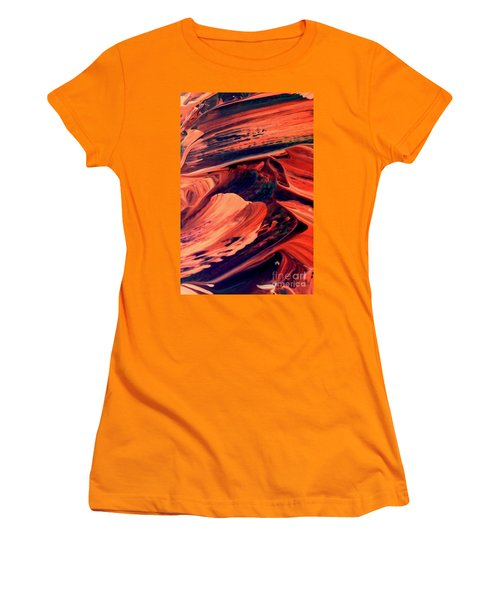 Women's T-Shirt (Junior Cut) featuring the painting Catalyst by Jacqueline McReynolds