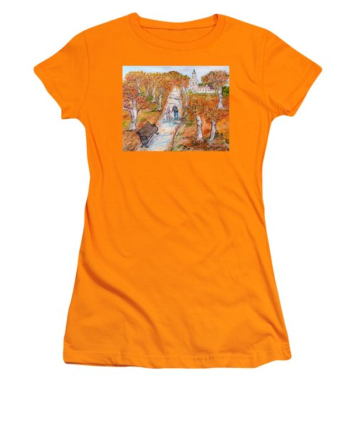 L'autunno Della Vita Women's T-Shirt (Athletic Fit)