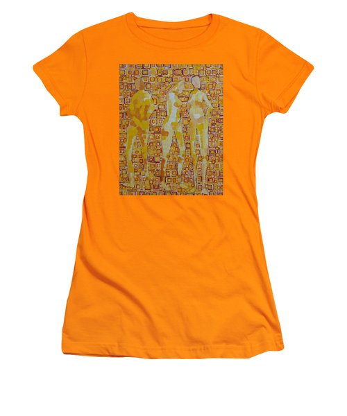 Mary Gestured Thrice Women's T-Shirt (Athletic Fit)