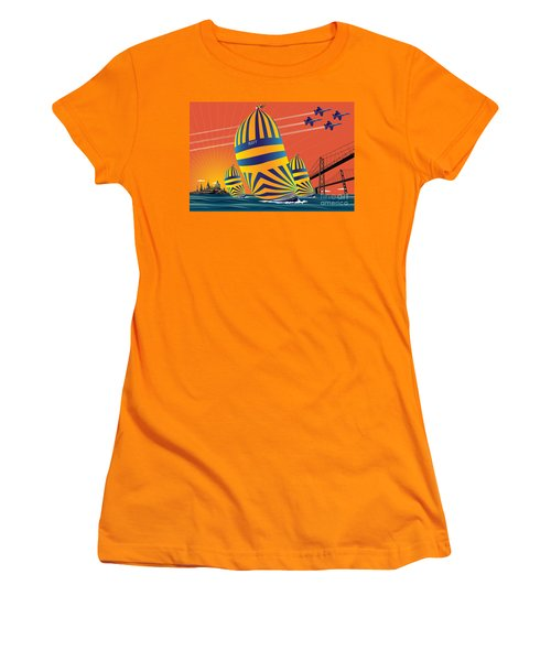Usna Sunset Sail Women's T-Shirt (Athletic Fit)