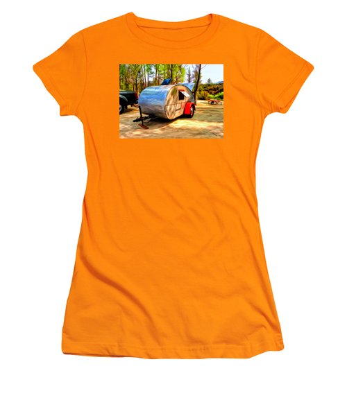 Women's T-Shirt (Junior Cut) featuring the painting 47 Teardrop by Michael Pickett