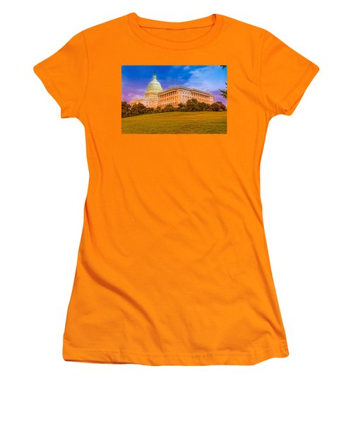 Women's T-Shirt (Junior Cut) featuring the photograph Capitol Building by Peter Lakomy