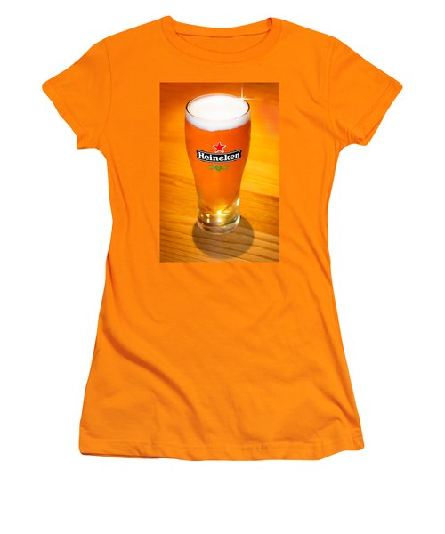 A Cold Refreshing Pint Of Heineken Lager Women's T-Shirt (Athletic Fit)