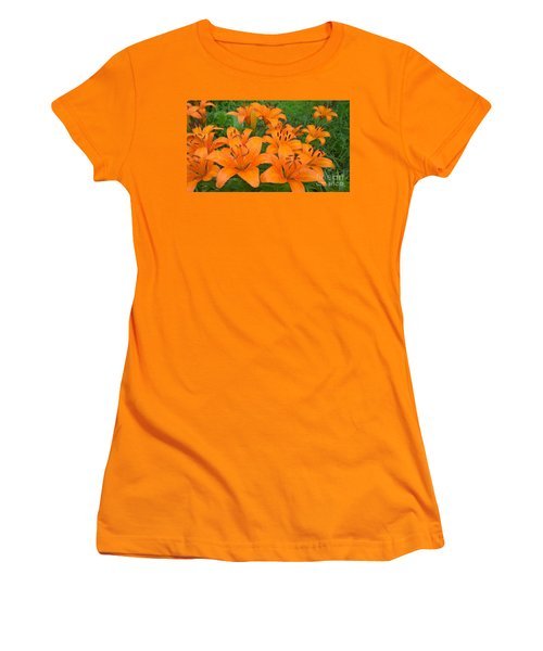 A Garden Full Of Lilies Women's T-Shirt (Athletic Fit)