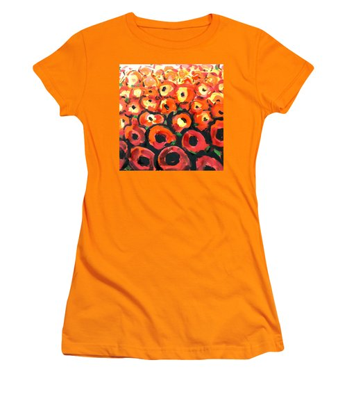 Abstract Poppies Women's T-Shirt (Athletic Fit)