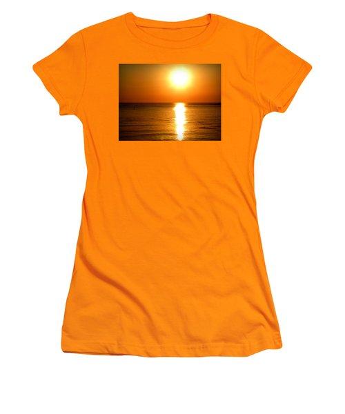 Women's T-Shirt (Junior Cut) featuring the photograph Aegean Sunset by Micki Findlay