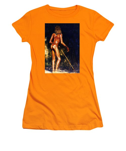 Women's T-Shirt (Junior Cut) featuring the painting African Lady by Hartmut Jager