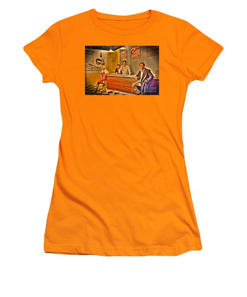 American Cinema Icons - 5 And Diner Women's T-Shirt (Athletic Fit)