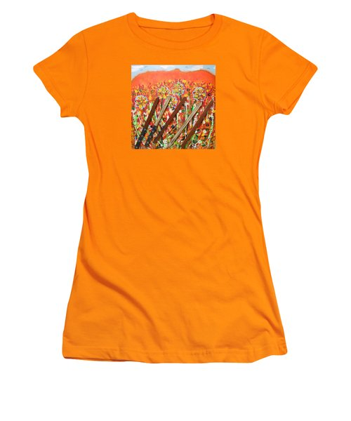 American Mornin' Flower Garden Women's T-Shirt (Athletic Fit)