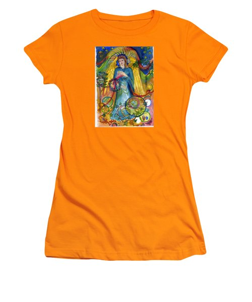 Angel In Blue Women's T-Shirt (Athletic Fit)