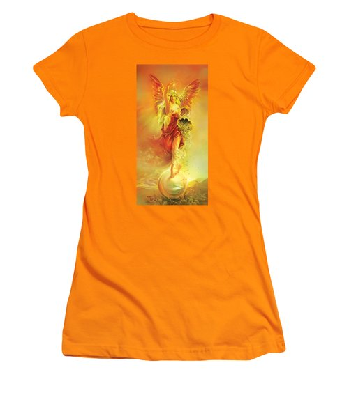 Angel Of Abundance - Fortuna Women's T-Shirt (Athletic Fit)