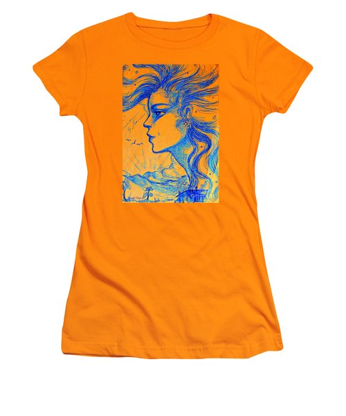 Anima Sunset Women's T-Shirt (Junior Cut) by Leanne Seymour