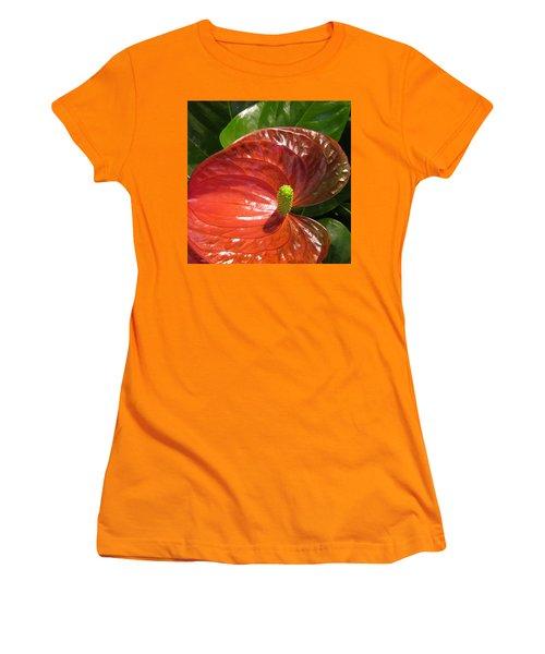 Anthurium Women's T-Shirt (Athletic Fit)