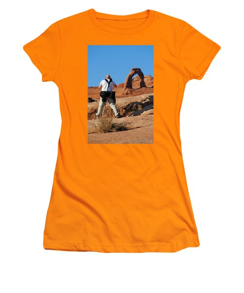 Women's T-Shirt (Junior Cut) featuring the photograph Arches Np 27 by Jeff Brunton
