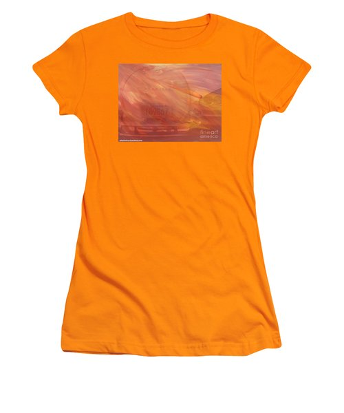 Women's T-Shirt (Junior Cut) featuring the painting Asteroid by PainterArtist FIN