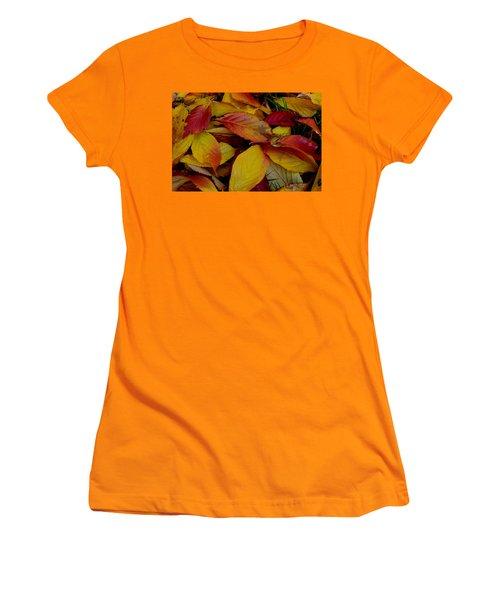 Women's T-Shirt (Junior Cut) featuring the photograph Autum by Barbara Walsh