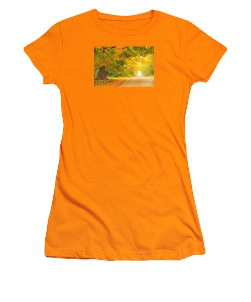 Autumn Cascade Women's T-Shirt (Junior Cut) by Terri Gostola