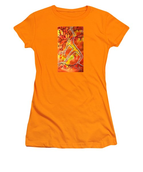 Autumn Dancing Women's T-Shirt (Junior Cut) by Leanne Seymour