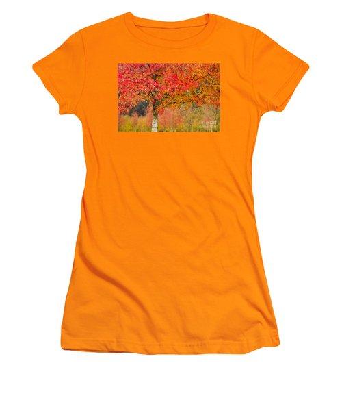 Autumn Fire Women's T-Shirt (Athletic Fit)