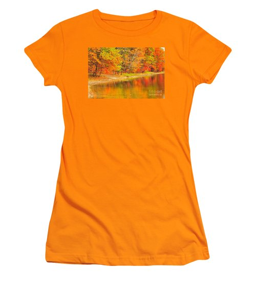 Women's T-Shirt (Junior Cut) featuring the photograph Fire Balls by Terri Gostola