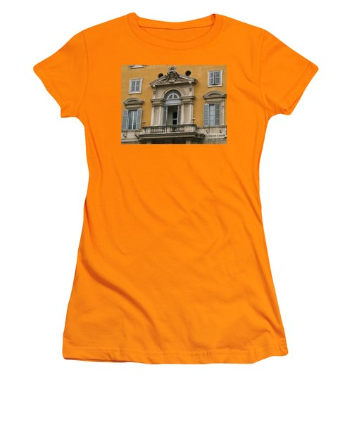 Women's T-Shirt (Junior Cut) featuring the photograph Awaiting The Pope by Robin Maria Pedrero