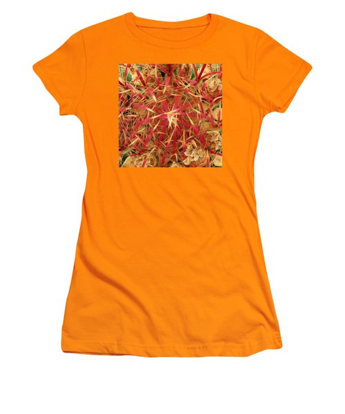 Women's T-Shirt (Junior Cut) featuring the photograph Barrel Cactus by Laurel Powell