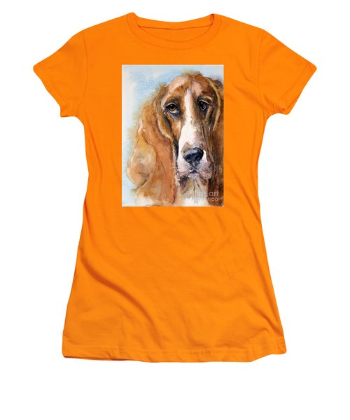 Basset Hound Women's T-Shirt (Athletic Fit)