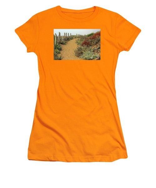 Women's T-Shirt (Junior Cut) featuring the photograph Beach Dune  by Kate Brown