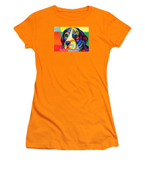 Beagle Women's T-Shirt (Junior Cut) by Sherry Shipley