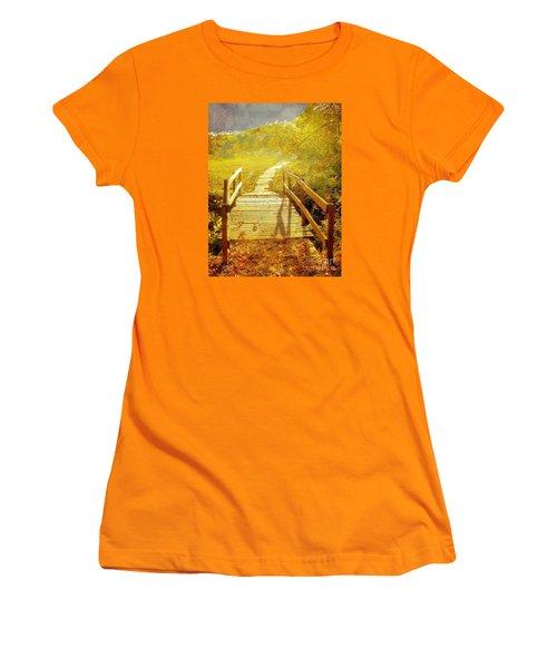 Bridge Into Autumn Women's T-Shirt (Junior Cut) by Janette Boyd