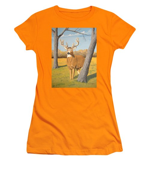 Bucky The Deer Women's T-Shirt (Athletic Fit)