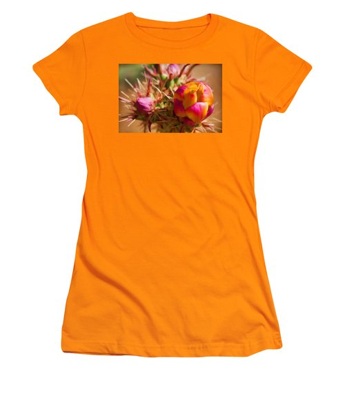 Budding Cactus Women's T-Shirt (Junior Cut) by Fred Larson