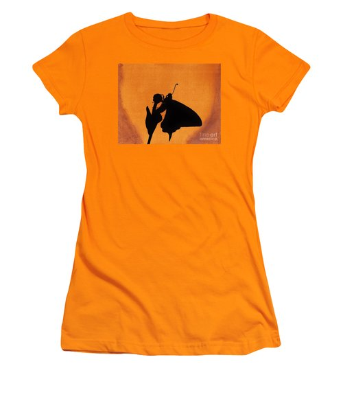 Women's T-Shirt (Junior Cut) featuring the drawing Butterfly by D Hackett