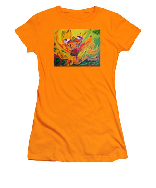Butterfly Jungle Women's T-Shirt (Athletic Fit)