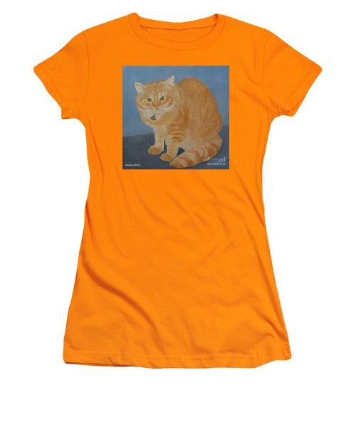 Butterscotch The Cat Women's T-Shirt (Athletic Fit)